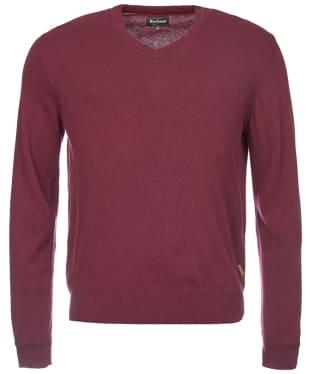 Men's Barbour Harrow V Neck Sweater - Merlot