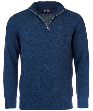 Men's Barbour Essential Wool Half Zip Sweater - Navy Mix