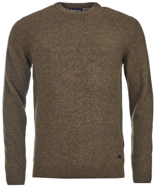 Men's Barbour Patch Crew Neck Lambswool Sweater - Willow Green