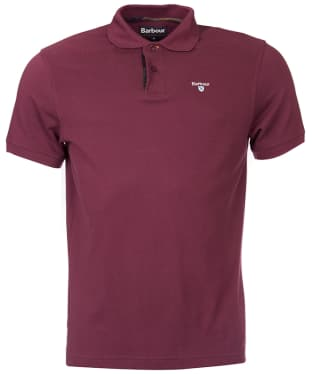 Men's Barbour Tartan Pique Polo Shirt - Merlot