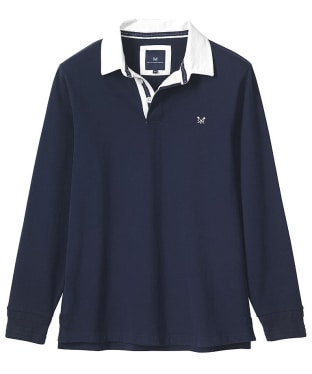 Men's Crew Clothing Long Sleeve Rugby Top - Navy