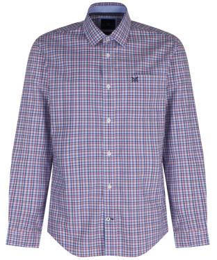 Men's Crew Clothing Aldenham Check Shirt - Washed Cherry