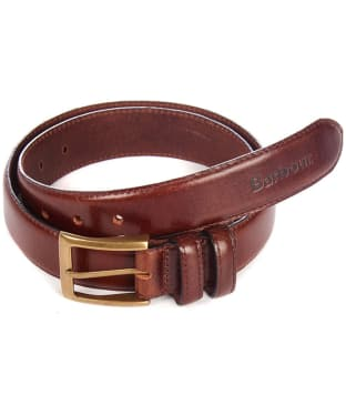 Men's Barbour Belt Giftbox - Dark Brown