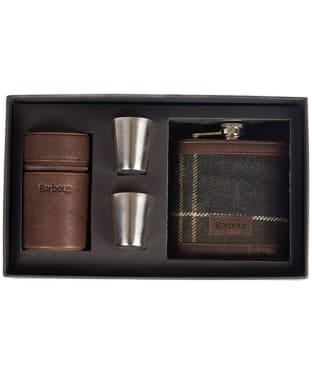 Barbour Tartan Hip Flask and Cups