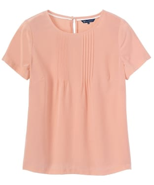 Women's Crew Clothing Silk Tee - Sugar Almond