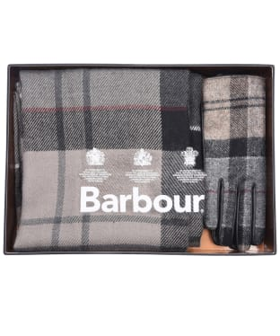 Women's Barbour Tartan Scarf and Glove Gift Set - Winter Tartan
