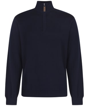 Men's Schoffel Cotton ¼ Zip Jumper - Navy Blue