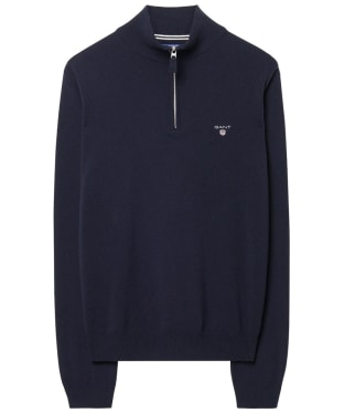 Men's GANT Super Fine Zip Sweater - Marine
