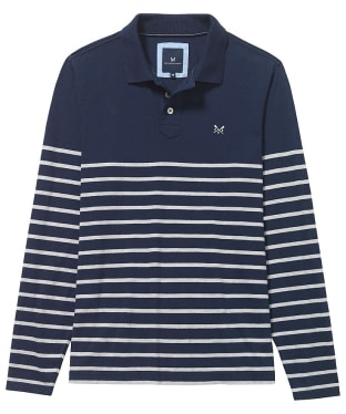 Men's Crew Clothing Marlow Breton Long Sleeved Polo