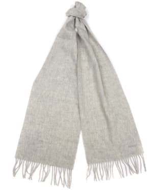Women's Barbour Lambswool Woven Scarf - Light Grey Melange