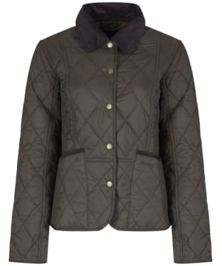 Women's Barbour Clover Liddesdale Quilted Jacket - Olive