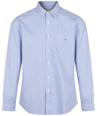 Men's R.M. Williams Collins Cotton Twill Shirt - White / Blue