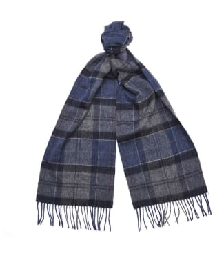 Women's Barbour Tartan Scarf - Navy / Grey