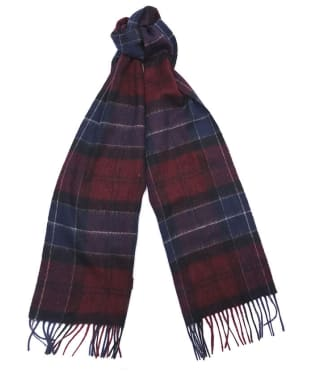 Women's Barbour Tartan Scarf - Damson / Navy