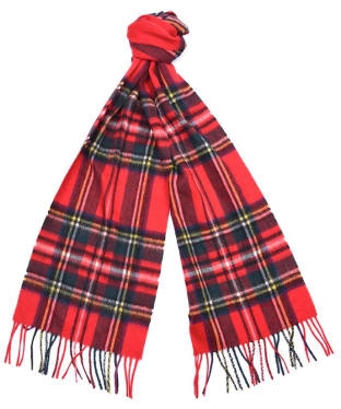 Barbour New Check Tartan Scarf - Royal