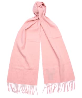 Women's Barbour Lambswool Woven Scarf - Blush Pink