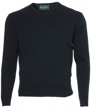 Men's Alan Paine Millbreck V-Neck Sweater - Dark Navy