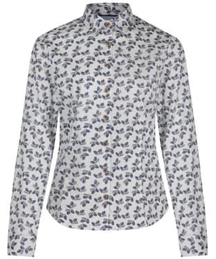Women's Musto Country Printed Shirt - Navy Acorn