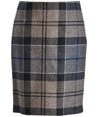 Women's Barbour Nebit Pencil Skirt - Navy Winter Tartan
