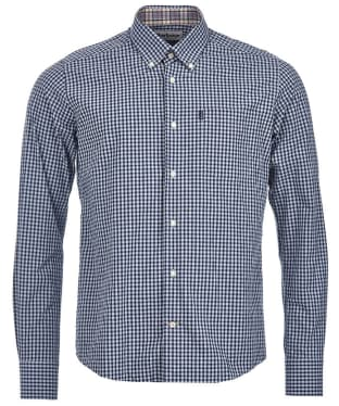 Men's Barbour Country Gingham Tailored Shirt - Midnight Blue Check