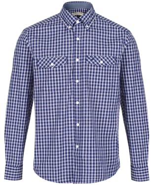 Men's R.M. Williams Bourke Shirt - Navy / White / Red