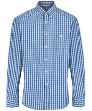 Men's R.M. Williams Collins Gingham Check Shirt - Blue / Aqua