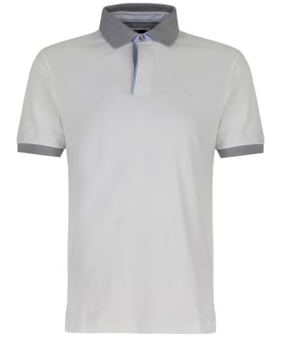 Men's Hackett Marl Piped Polo Shirt - Winter White