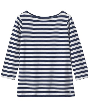 Women's Crew Clothing Ultimate Breton Top - Navy / White