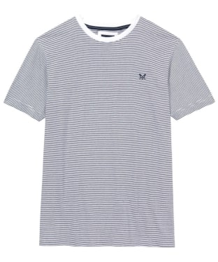 Men's Crew Clothing Fine Stripe Tee - White / Navy