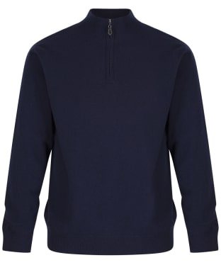 Men's Alan Paine Wilshaw Windblock Half Zip Sweater - Navy