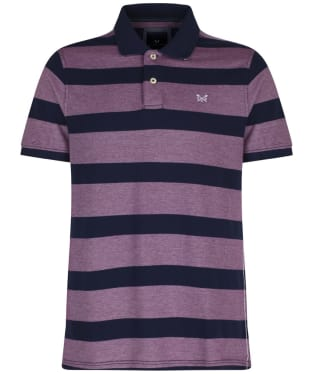 Men's Crew Clothing Oxford Polo Shirt - Navy / Boysenberry