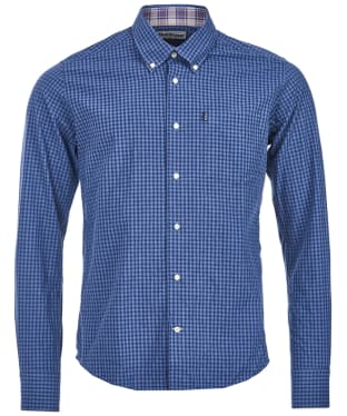 Men's Barbour Country Gingham Tailored Shirt - Indigo Check