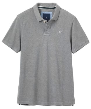 Men's Crew Clothing Classic Pique Polo Shirt - Grey Marl