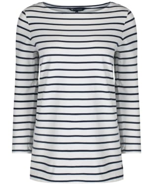 Women's Crew Clothing Essential Breton Top - White / Navy