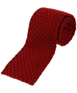 Men's Alan Paine Knitted Wool Tie - Red
