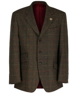 Men's Alan Paine Combrook Short Length Tweed Blazer - Peat