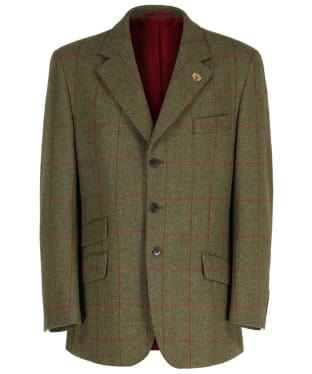 Men's Alan Paine Combrook Short Length Tweed Blazer - Sage