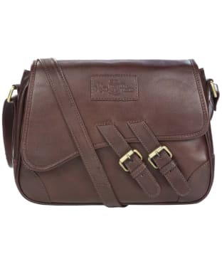 Women's Alan Paine Leather Handbag - Oak