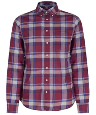 Men's GANT Heather Plaid Broadcloth Fitted Shirt