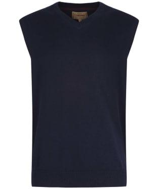 Men's Schoffel Cotton Cashmere Sleeveless V-Neck Sweater