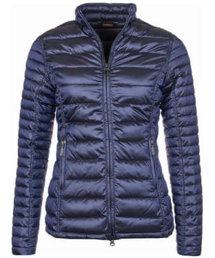 Women's Barbour Clyde Short Baffle Quilted Jacket - Royal Navy