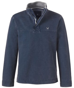 Men's Crew Clothing Padstow Pique Sweatshirt - Navy