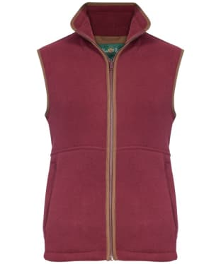Men's Alan Paine Aylsham Fleece Waistcoat - Bordeaux