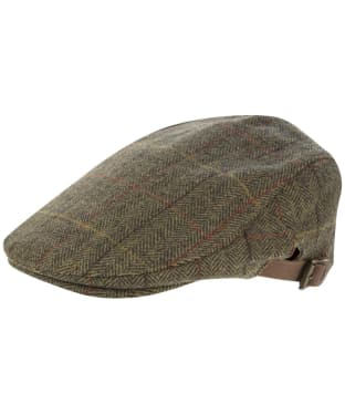 Alan Paine Combrook Waterproof Unisex Tweed Cap - Peat