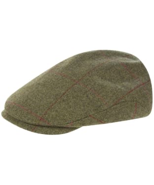 Men's Alan Paine Combrook Waterproof Extended Peak Tweed Cap - Sage