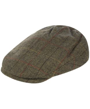 Men's Alan Paine Combrook Waterproof Extended Peak Tweed Cap - Peat