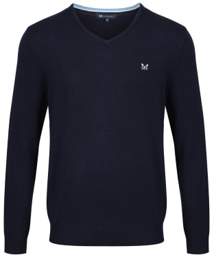 Men's Crew Clothing Foxley V-neck Sweater - Navy