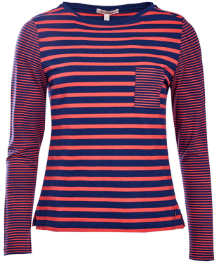 Women's Barbour Barnacle Top - Navy / Red