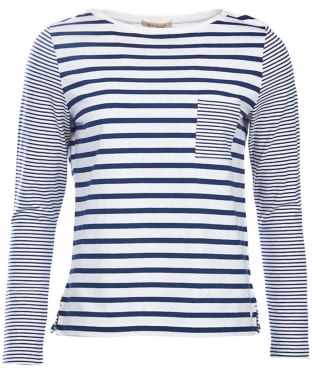 Women's Barbour Barnacle Top - Cloud / Navy