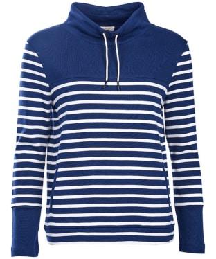 Women's Barbour Rief Sweatshirt - Navy / Cloud